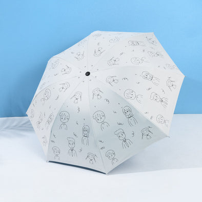 Painting Mini Five-fold Umbrella