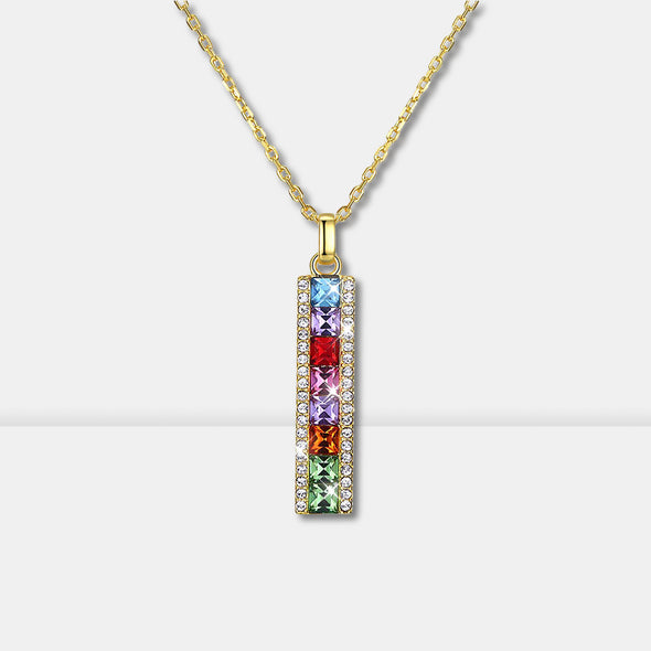S925 Colorful Crystal Necklace - Shelark