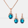 Water Drop Crystal Jewelry Set - Shelark