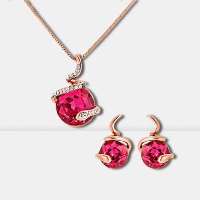 S-shaped Crystal Jewelry Set - Shelark