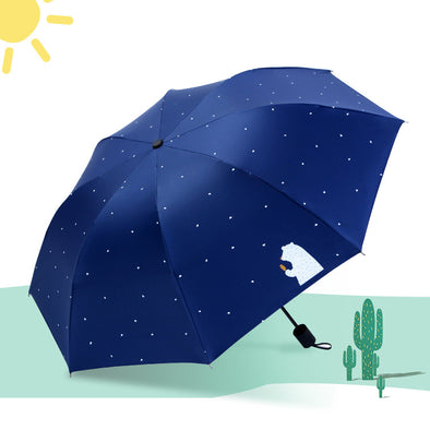 Bear Mini Five-fold Umbrella