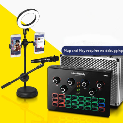 Professional Live Broadcasting&Recording Capacitor Condenser Microphone Set - Shelark