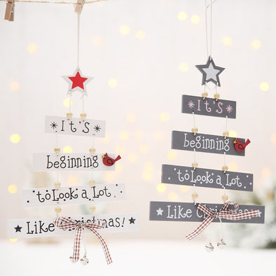 Colourful Letter Christmas Tree Decorations - Shelark