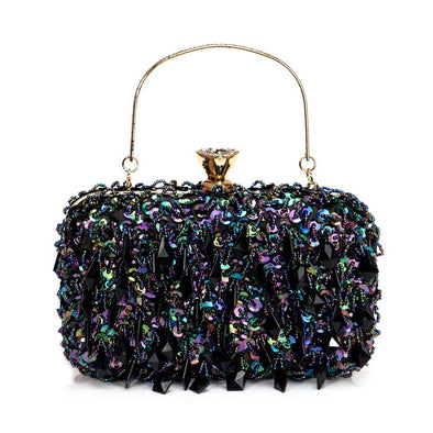 Double-sided Beaded Evening Bag - Shelark