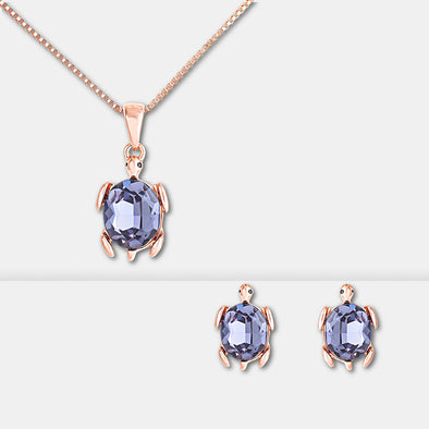 Tortoise Crystal Jewelry Set - Shelark