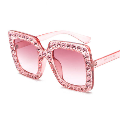 Fashion Rhinestone Sunglasses - Shelark