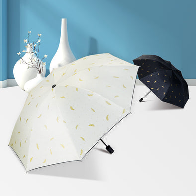 Feather Mini Five-fold Umbrella - Shelark