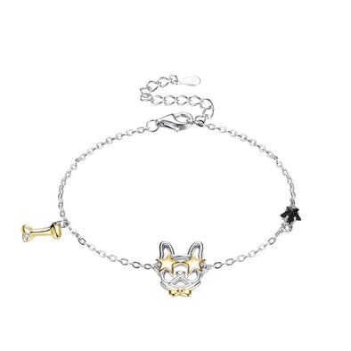 Dog Crystal Bracelet