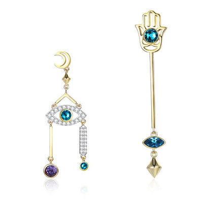 Evil Eyes Crystal Earrings