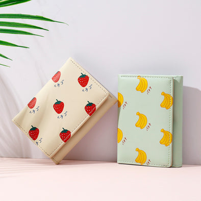 Strawberry Printed Lady's Purse - Shelark