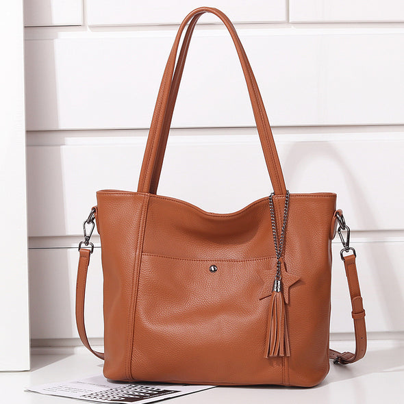 Elegant Leather Handbag - Shelark