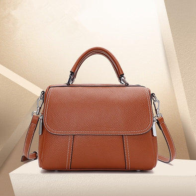 Large Capacity Fashion Leather Shoulder Bag - Shelark