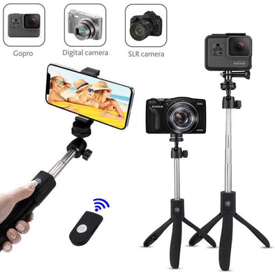 Selfie Stick Tripod with Bluetooth Wireless Remote - Shelark