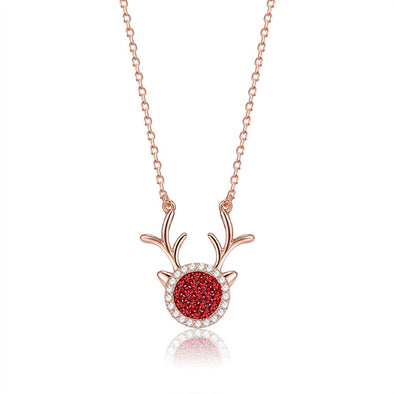 S925 Fashion Deer Necklace - Shelark