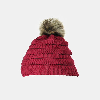 Removable wool ball knitted cap - Shelark