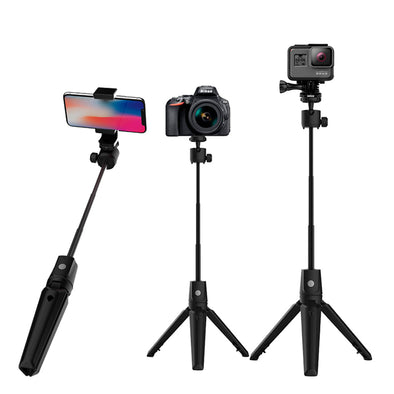 Portable Selfie Stick Tripod with Bluetooth - Shelark