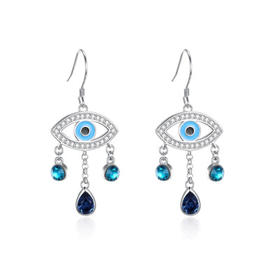 Tear Crystal Earrings - Shelark