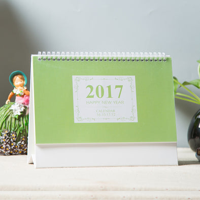 Desk Calendar Green - 10 Pack