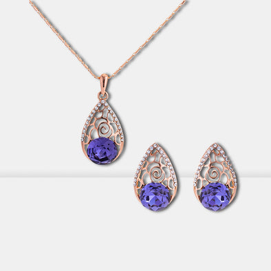 Hollow Crystal Jewelry Set - Shelark