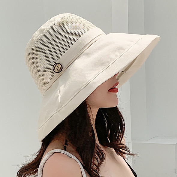 Floral Lady's Sun Protection Hat - Shelark