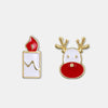 Christmas Deer with Candle Earrings - Shelark