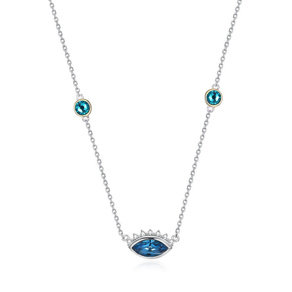 Devil's Eye Crystal Necklace - Shelark