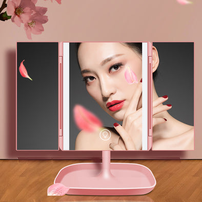 Folding LED Make Up Mirror - Shelark