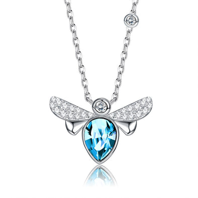 Bee Crystal Necklace - Shelark