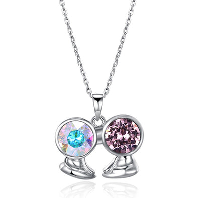 Gemini  Crystal Necklace - Shelark