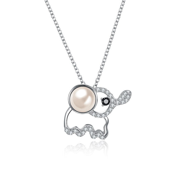 Elephant Pearl Crystal Necklace - Shelark