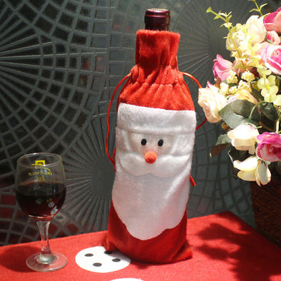 Christmas Santa wine bottle tote - Shelark