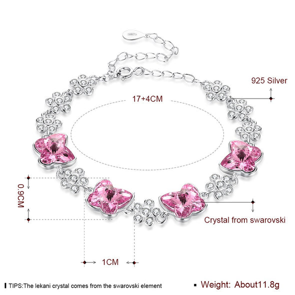 Flower Crystal Bracelet - Shelark