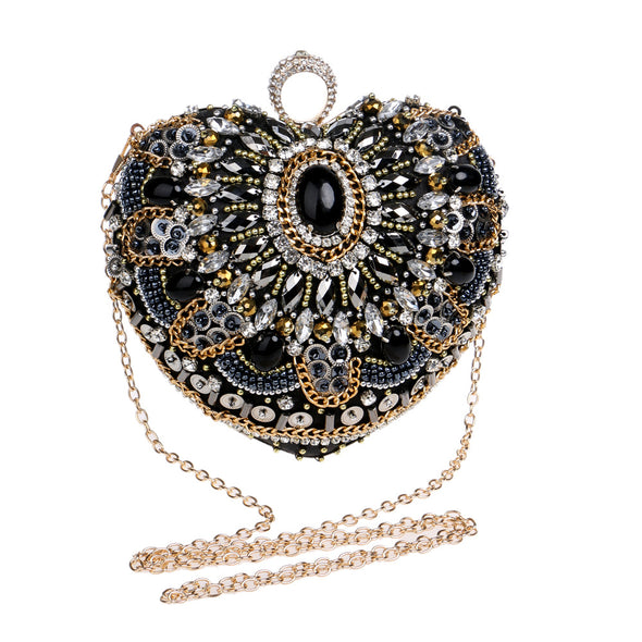Heart-shaped evening bag