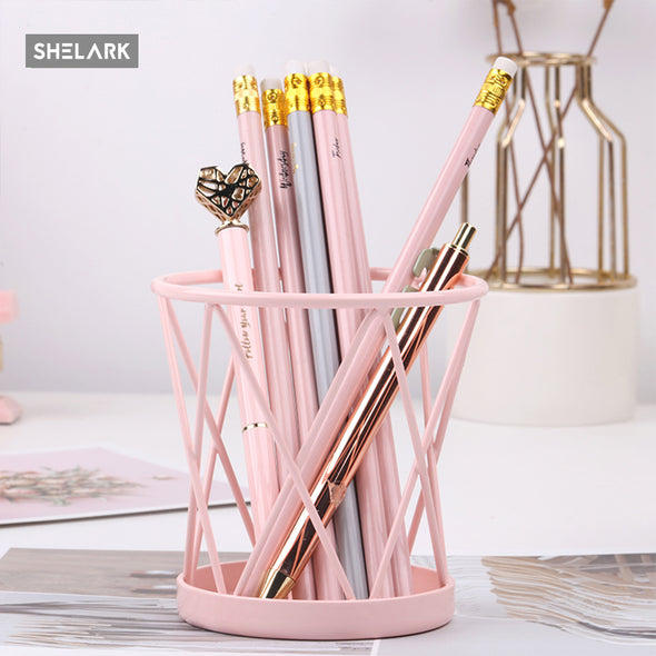 Pink Series Iron Pen Holder - Pink - Shelark