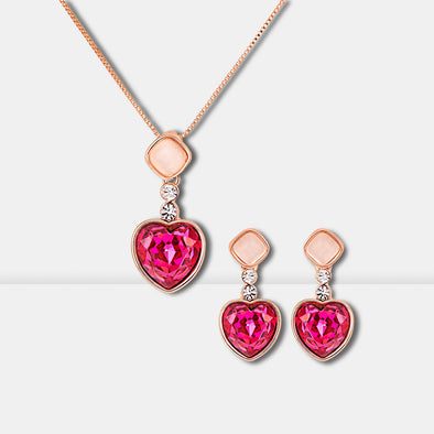 Heart Crystal Jewelry Set - Shelark