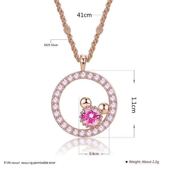 S925 Cute Circle Necklace - Shelark
