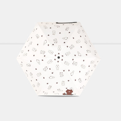 Sweet bear Mini Five-folding Umbrella