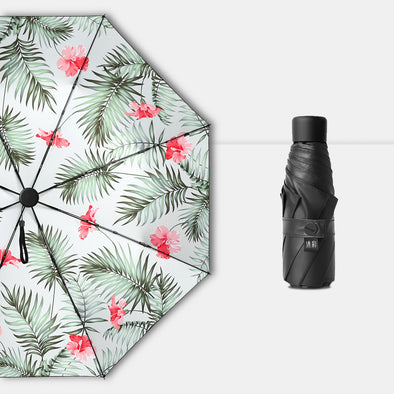 Leaf five-folding umbrella