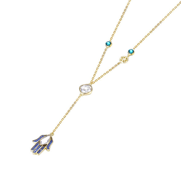 Lucky Hand Crystal Necklace - Shelark