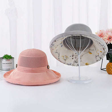 Floral Lady's Sun Protection Hat