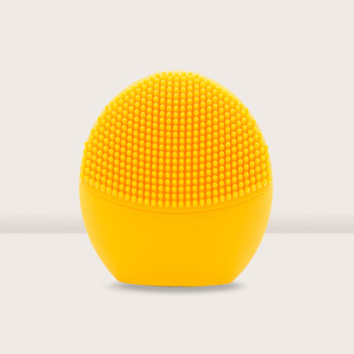 Pandora Series Silicone Sonic Facial Cleansing Brush - Yellow - Shelark