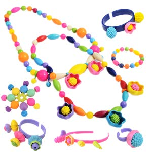Pops Beads DIY Toy - Kids Intelligence Education Toys Gifts Jewelry Bracelet Necklace Making Kit Arts & Crafts Toys for Kids - Shelark