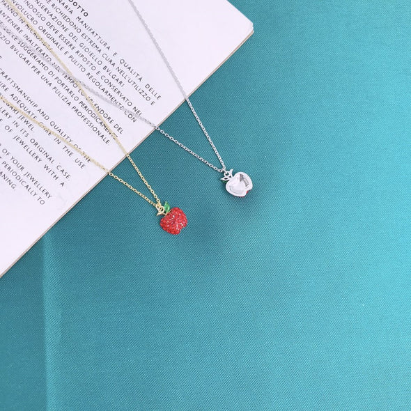 S925 Red Apple Necklace - Shelark