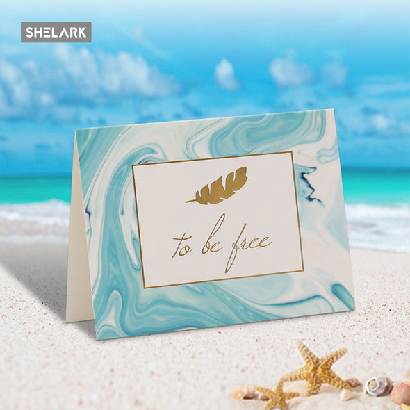Blue Series Greeting Card - Blue - Shelark