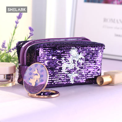 Mermaid Series Sequin Storage Bag - Purple - Shelark