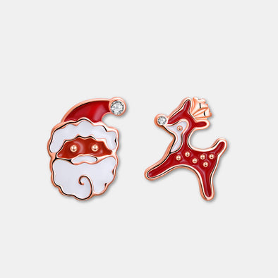 Christmas Santa with Deer Earrings - Shelark