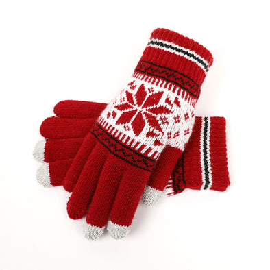 Snowflake Warm Gloves