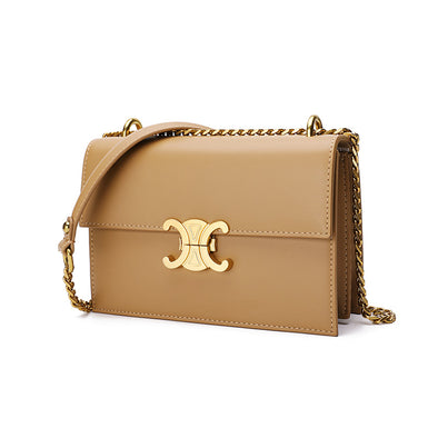 Elegant Leather Shoulder Bag - Shelark