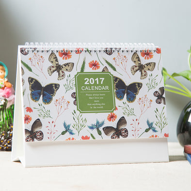 Desk Calendar Butterfly - 10 Pack