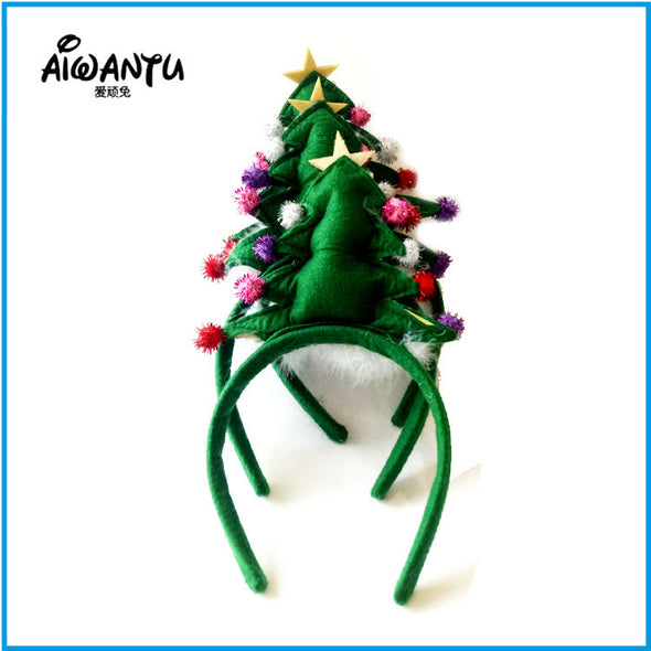 Christmas tree hair hoops(10 pieces) - Shelark